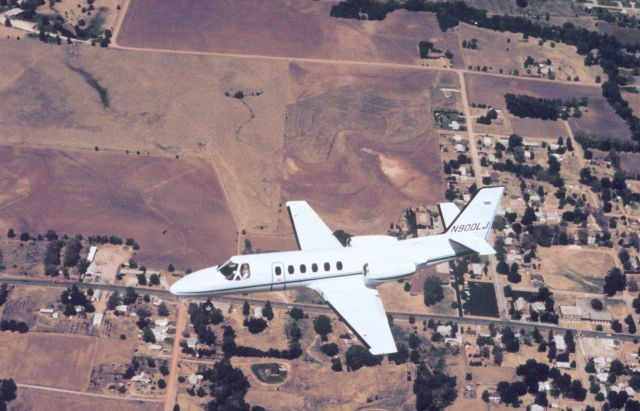 NOAA Cessna 550 Citation II used for photogrammetric and remote sensing. Picture