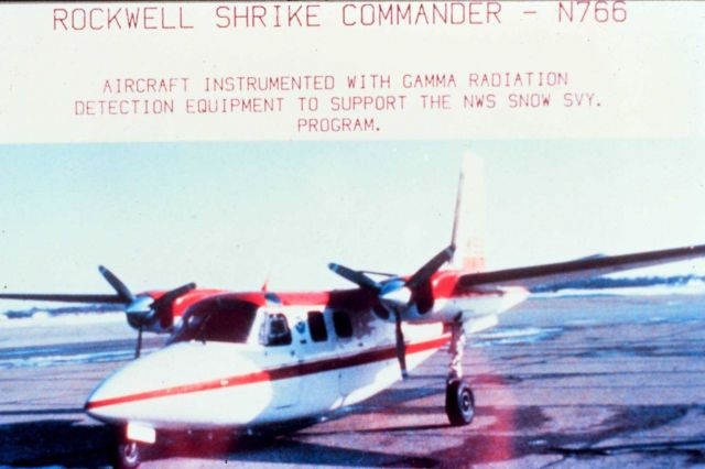 Rockwell Shrike Commander - N766 - Aircraft instrumented with gamma radiation detection equipment to support the NWS snow svy program. Picture