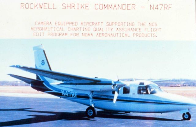 Rockwell Shrike Commander - N47RF - Camera equipped aircraft supporting the NOS aeronautical charting quality assurance flight edit program for NOAA a Picture