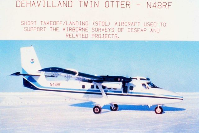 Dehavilland twin Otter - N48RF  - Short takeoff/landing aircraft used to support the airborne surveys of OCSEAP and related projects. Picture