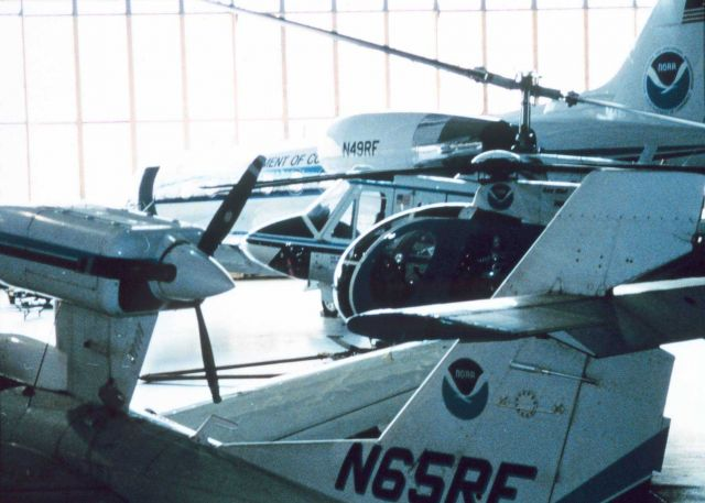 A menagerie of NOAA aircraft at the NOAA hangar at MacDill AFB Picture