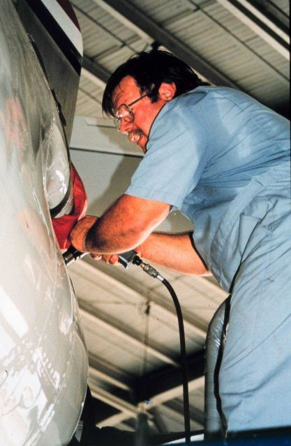 Roc Torrey working on a P-3 Picture