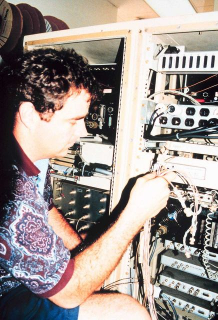 AOC Electronics Technician Sean McMillan. Picture
