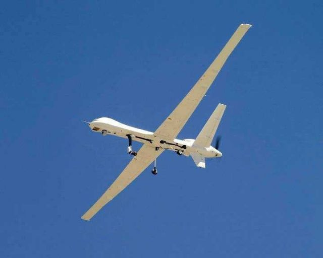 Global Hawk unmanned aerial vehicle (UAV) used for science by NASA and NOAA. Picture