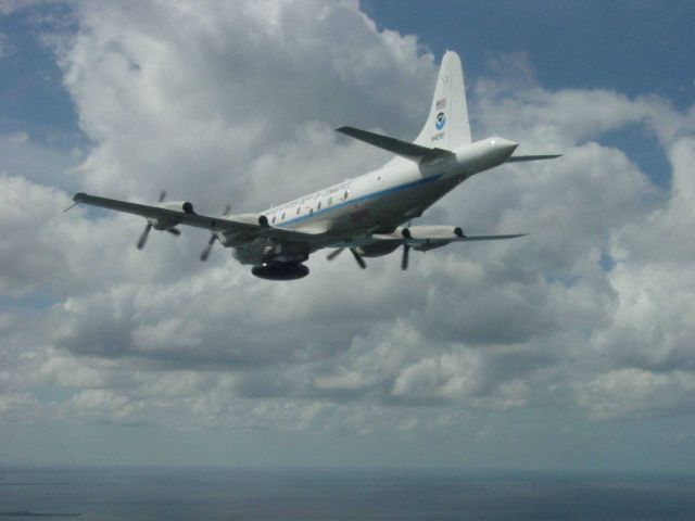 NOAA P-3 hurricane hunter aircraft N42RF. Picture