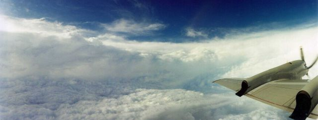 Eyewall of Hurricane Floyd as seen from NOAA 43, P-3 research aircraft Picture