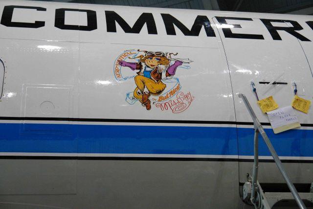 Miss Piggy art adorning NOAA P-3 hurricane hunter aircraft N43RF. Picture