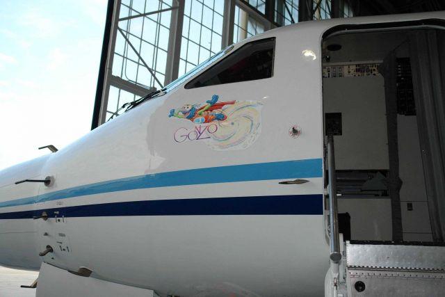 Gonzo art adorning Gulf Stream IV N49RF. Picture