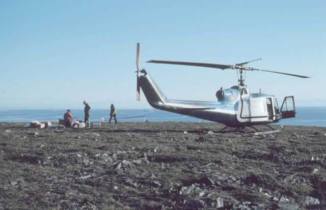 Bell UH-1M supporting scientific studies. Picture