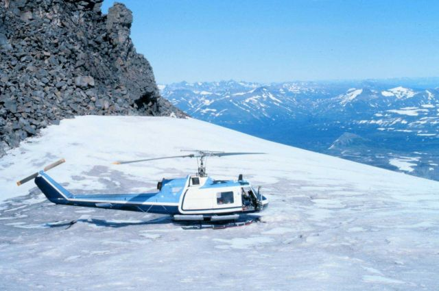 Bell UH-1M supporting petrologic studies by University of Alaska for OCSEAP. Picture