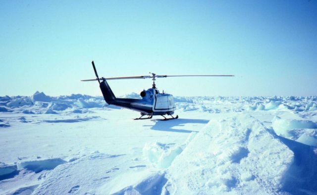 Sea ice studies in southern Chukchi Sea. Picture