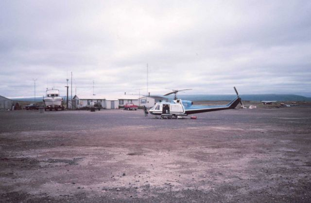 Port Heiden airport - helicopter base while supporting NOAA Ship FAIRWEATHER in Wide Bay area. Picture