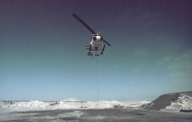 NOAA helicopter supporting science operations in the Alaskan Arctic. Picture