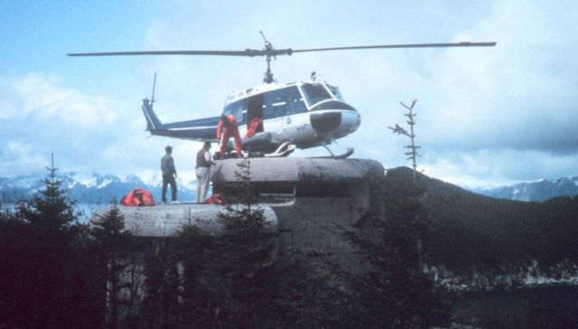 NOAA N57RF helicopter supporting survey opertions in Alaska. Picture