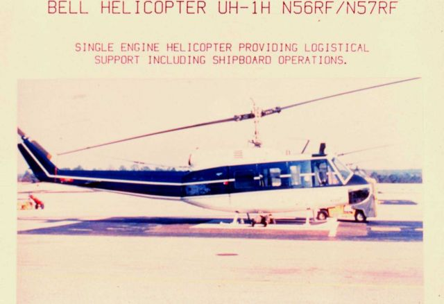NOAA Bell helicopter UH-1H N56RF and N57RF on ground Picture
