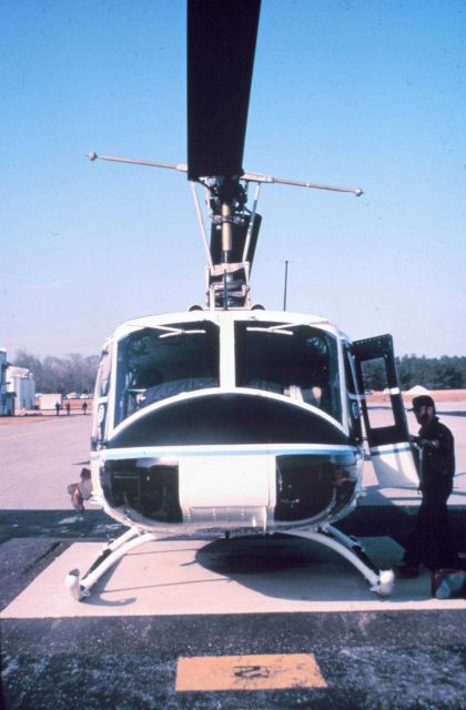 NOAA helicopter on ground. Picture