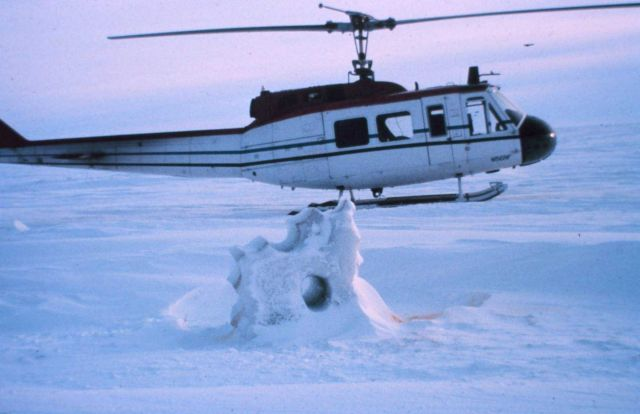 NOAA helicopter N56RF operating on the frozen seas of northern Alaska. Picture