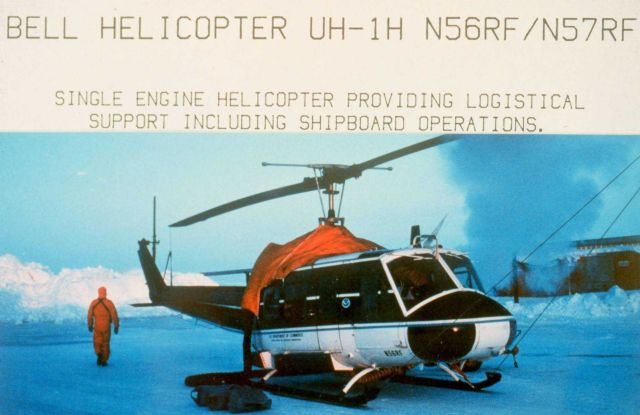 NOAA Bell helicopter UH-1H operating in northern Alaska in late winter/early spring Picture