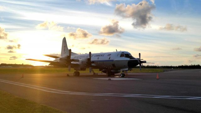 Preparing NOAA P-3 N42RF for flight into Hurricane Edouard. Picture