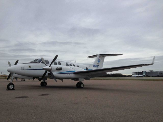NOAA King Air (BC300 CER) N68RF on the ground at Tampa Picture