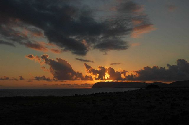 An Easter Island sunset. Picture