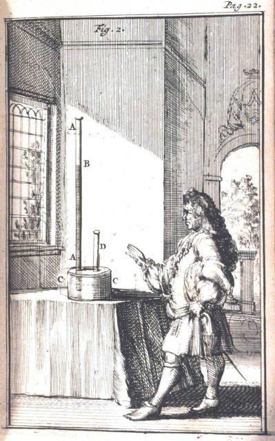 Figure 1 in: Traittez de barometres, thermometres, et notiometres, ou hygrometres, by Joachim d'Alence, d Picture