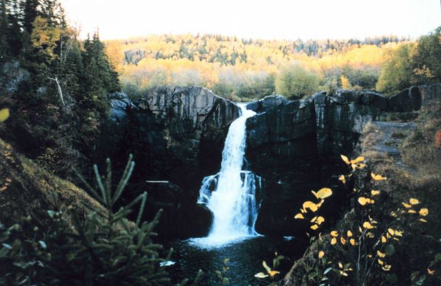 Small waterfall in Grand Portage National Monument Picture