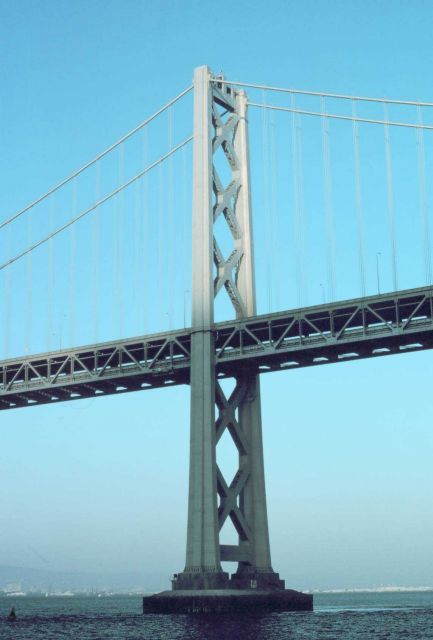 A tower of the San Francisco-Oakland Bay Bridge. Picture
