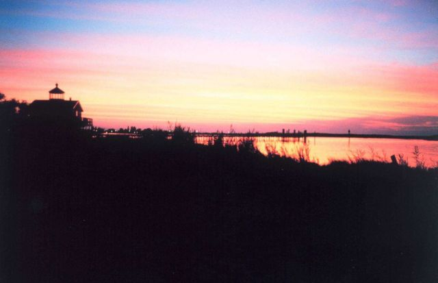 Sunset over Chesapeake Bay from Port Isobel Picture