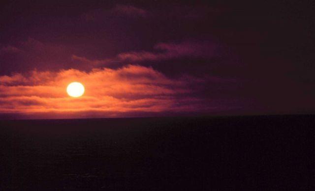 Alaskan sunset. Picture