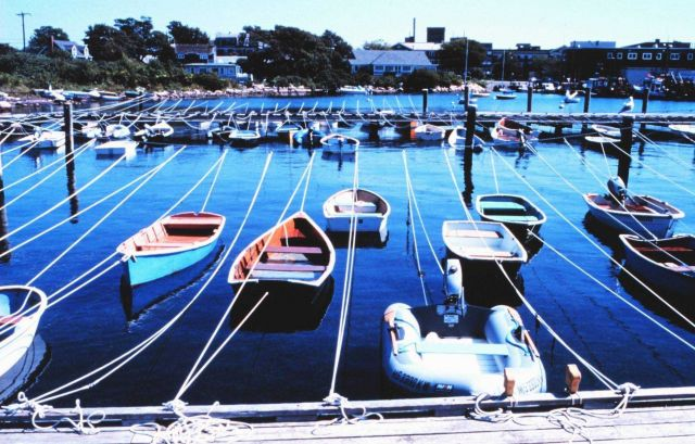 Woods Hole Yacht Club, Great Harbor at Woods Hole (National Marine Fisheries Service facility on right) Picture