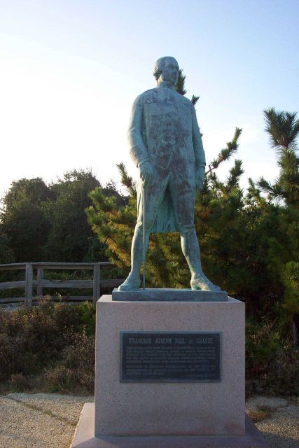 Statue of Admiral Francois Joseph Paul de Grasse, admiral of the French fleet that trapped the British Army at Yorktown in 1781, effectively ending th Picture