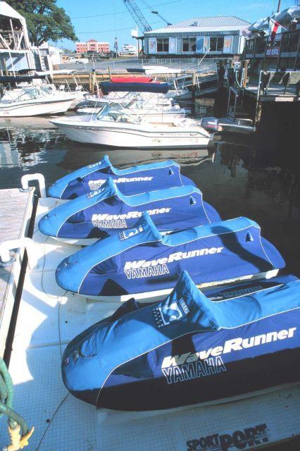 Jet ski boats at Port-O-Call Marina Picture