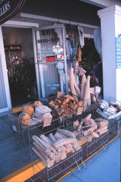 Sponges and other paraphernalia of the sponge industry in a tourist market Picture