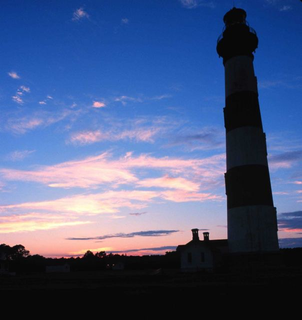 A view of the Bodie Island Lighthouse at sunset Picture