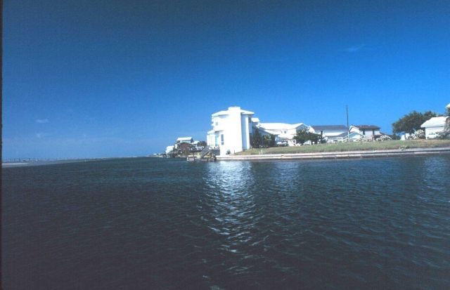 A resort area on the west side of Padre Island Picture