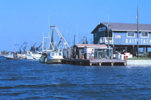 Shrimp boats tied up just south of the JFK Causeway Picture