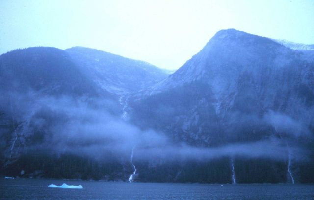Waterfalls abound throughout Tracy Arm Fjord Picture