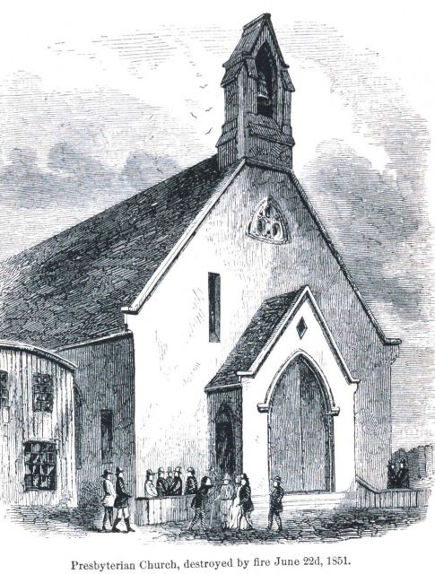 Presbyterian Church destroyed by fire on June 22nd, 1851 Picture