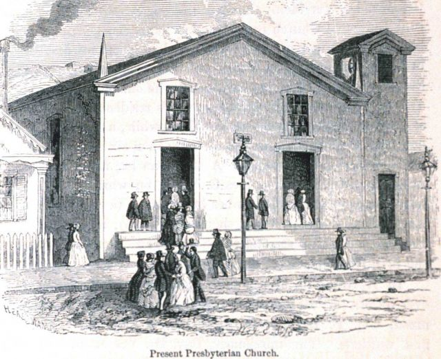The present Presbyterian Church (as of 1854.) In: