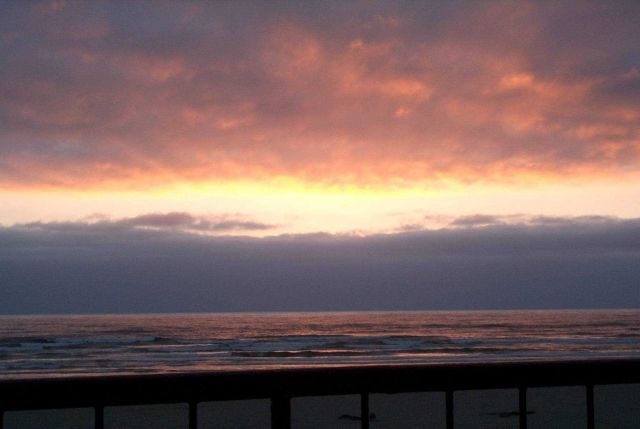 Sunset at Seaside. Picture