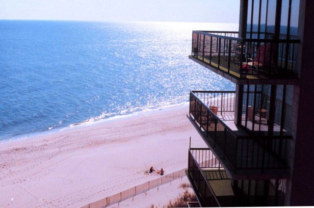 View of a Delaware Beach from an oceanfront condominium Picture