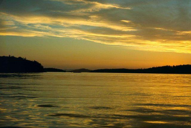 San Juan Islands sunset. Picture