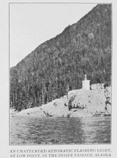 An Unattended Automatic Flashing Light, at Low Point, in the Inside Passage, Alaska Picture