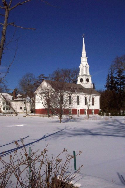 A beautiful New England Church at Castine Picture