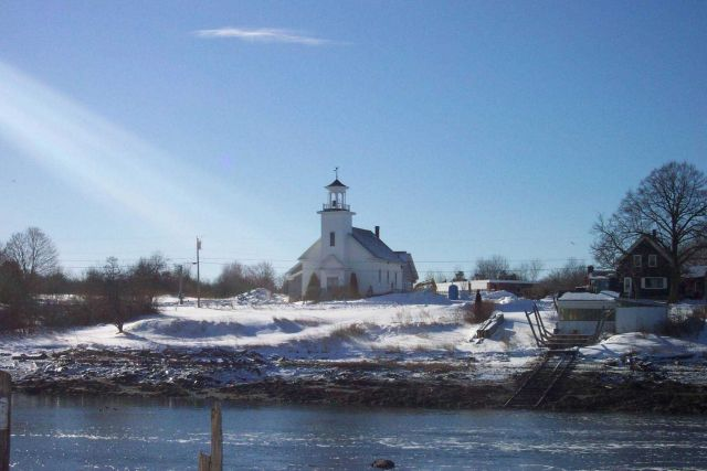 A church at South Thomaston. Picture