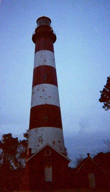 Assateague Lighthouse at dusk. Picture