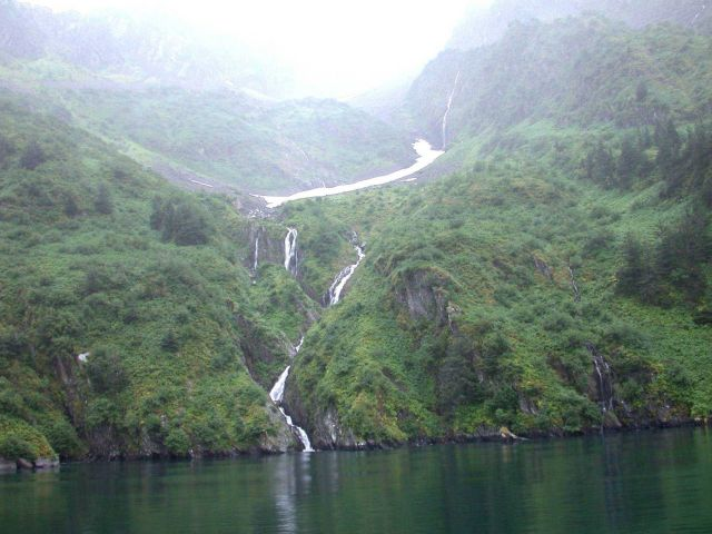 Waterfall in Kenai Fjords area. Picture