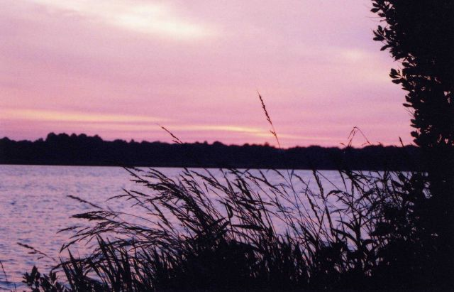 Sunset over the Patuxent River. Picture
