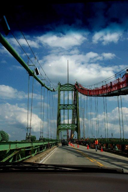 The Waldo-Hancock Bridge at Bucksport crossing over upper Penobscot Bay. Picture